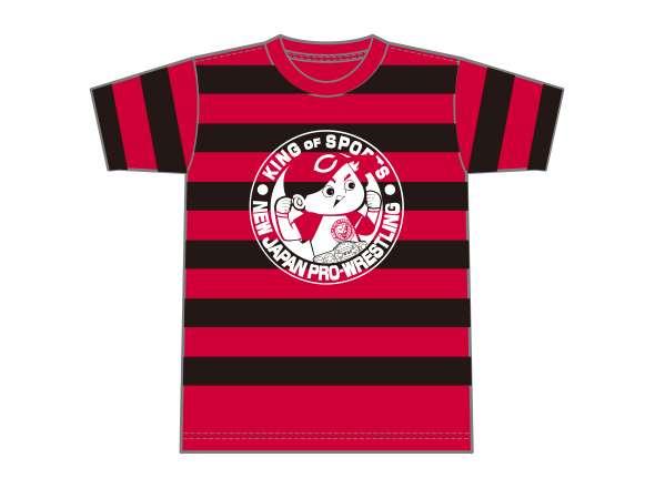 広島東洋カープ×NJPWコラボTシャツ(ボーダー×ホワイト)