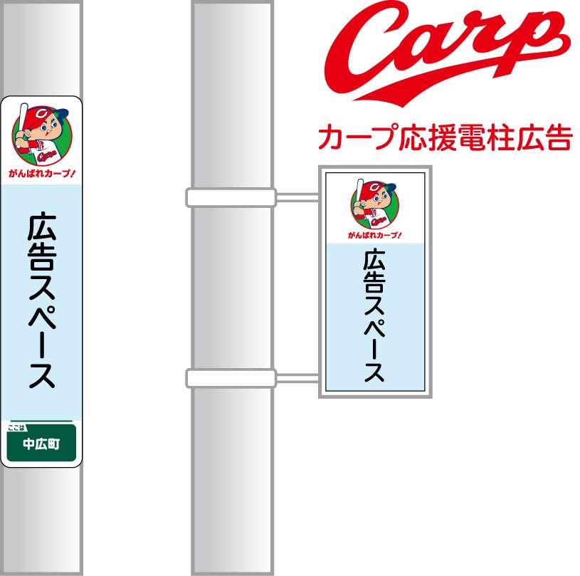 「カープ応援」電柱広告
