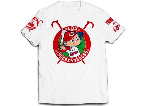 広島東洋カープ×内藤哲也 TRANQUILO de Carp Tシャツ(ホワイト/ネイビー)