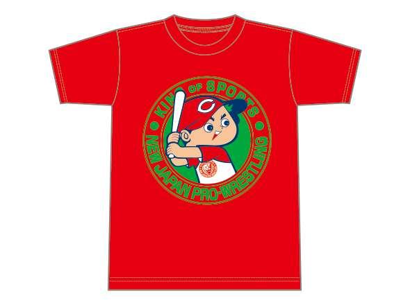 広島東洋カープ×NJPWコラボTシャツ(レッド×グリーン・ホワイト)