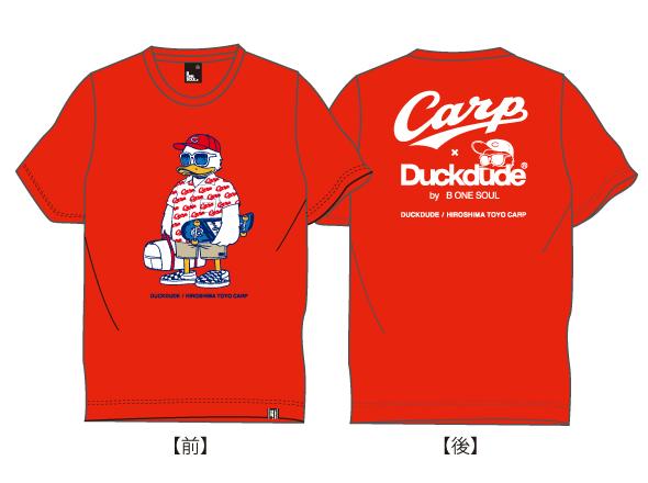 ダックデュードコラボ半袖Tシャツ(ガラシャツ)キングサイズ