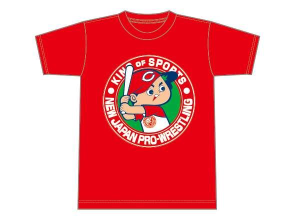 広島東洋カープ×NJPWコラボTシャツ(レッド×ホワイト)