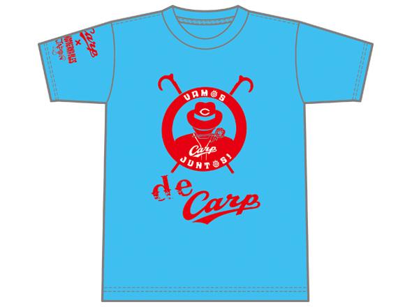 広島東洋カープ×内藤哲也「VAMOS JUNTOS!」Tシャツ(ライトブルー)/(レッド)
