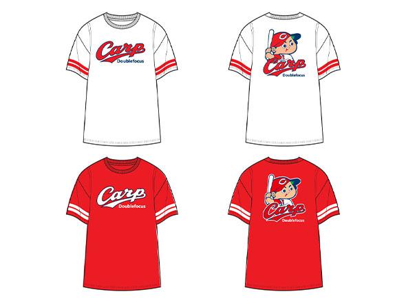 Carp×ダブルフォーカス ロゴDRYメッシュTシャツ