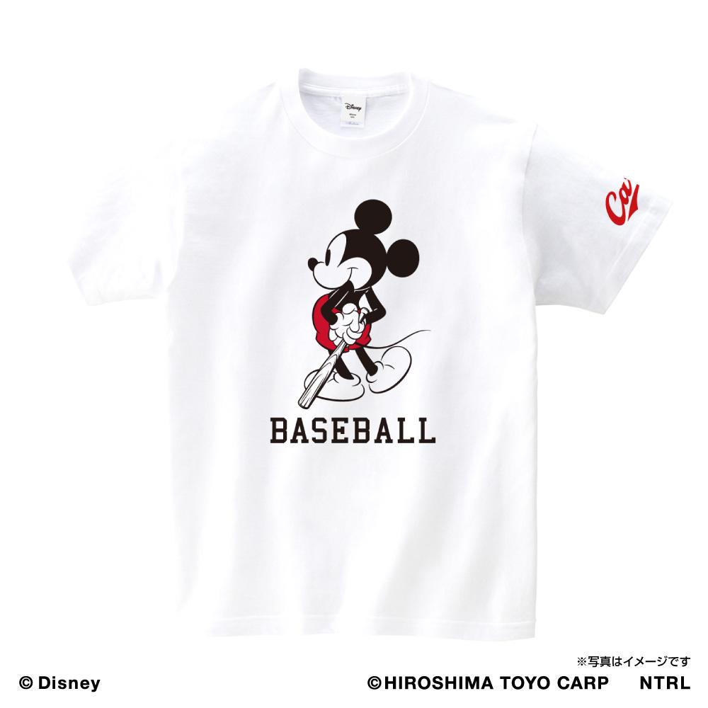 21ミッキーマウス(BASEBALL)/広島東洋カープ Tシャツ アダルト