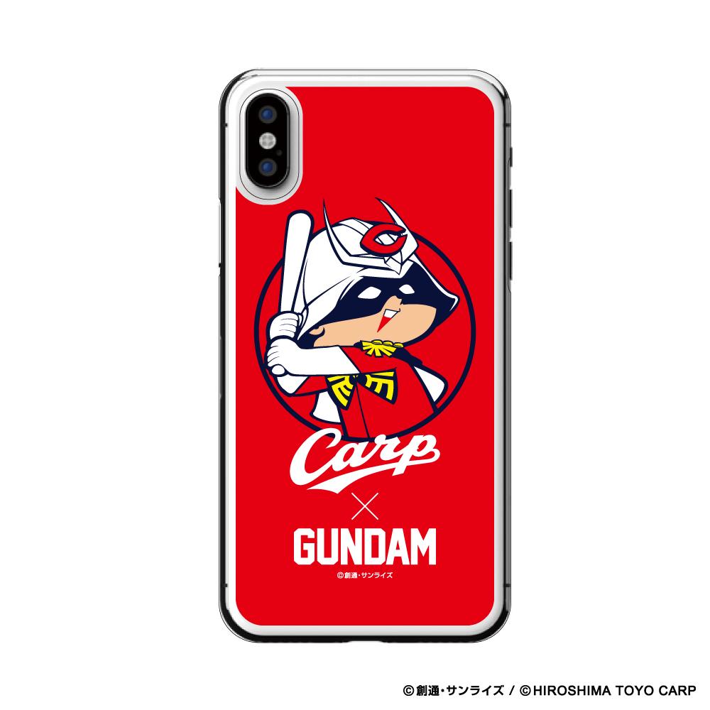 ガンダム×カープ iPhoneクリアケース(シャア坊や)