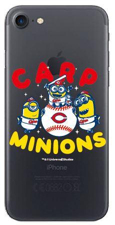 2018ミニオン×カープ クリアiPhoneケース(集合/キングボブ)