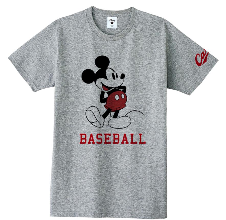 ミッキーマウス×カープ Tシャツ(BASEBALL)
