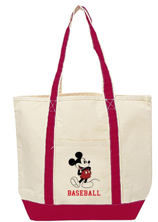 ミッキーマウス×カープ キャンバスバッグ