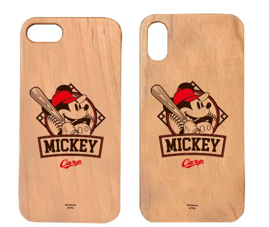ミッキーマウス×カープ ウッドiPhoneケース