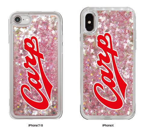 グリッターiPhoneケース(iPhone7/8用,iPhoneX用)