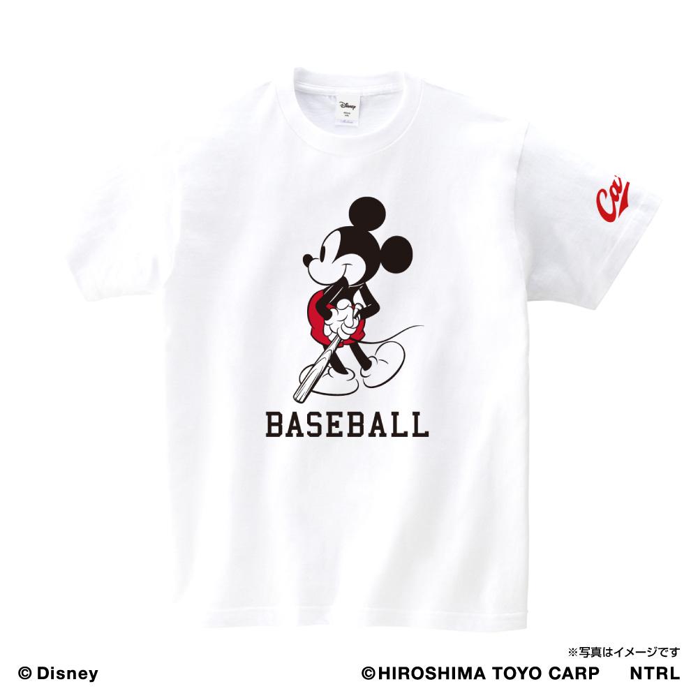 21ミッキーマウス(BASEBALL) /広島東洋カープ Tシャツ キッズ