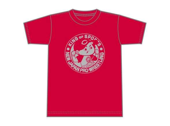 広島東洋カープ×NJPWコラボTシャツ(レッド×シルバー)