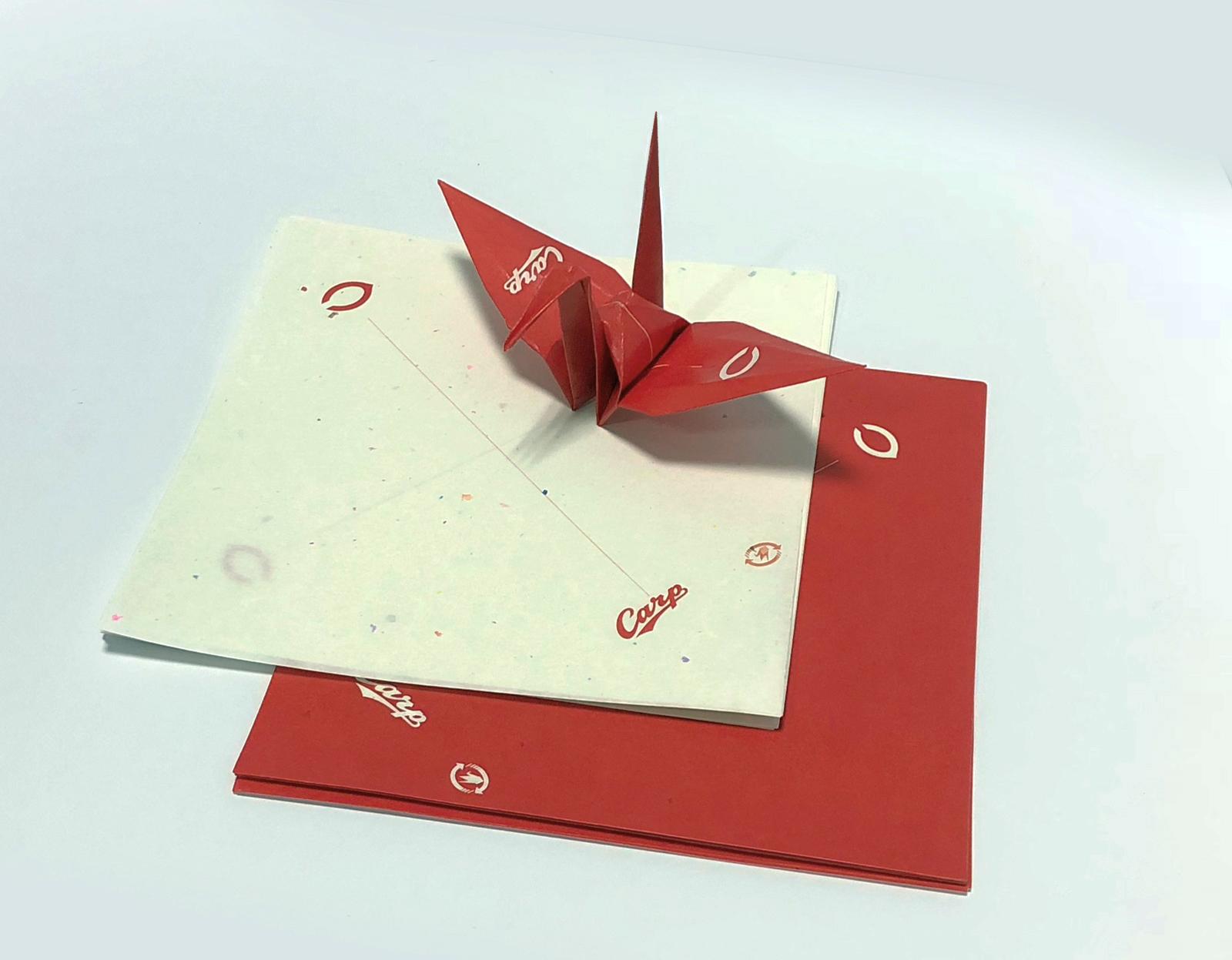 カープ平和の折り紙