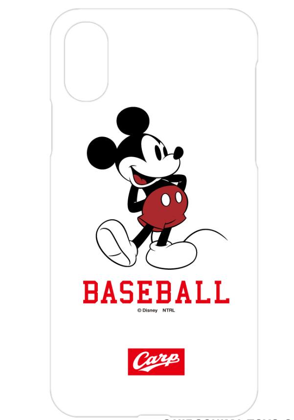 ミッキーマウス×カープ iPhoneケース(BASEBALL)