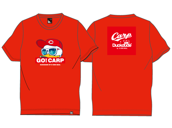 ダックデュードコラボ「GO CARP!」半袖Tシャツ