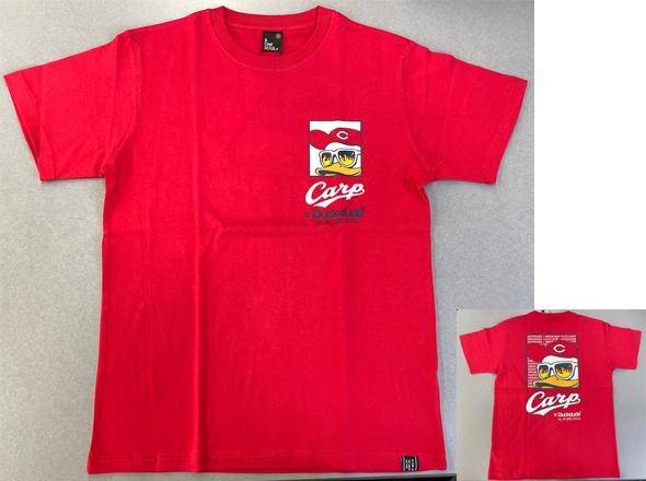 ダックデュードコラボ半袖Tシャツ(左胸&バック)